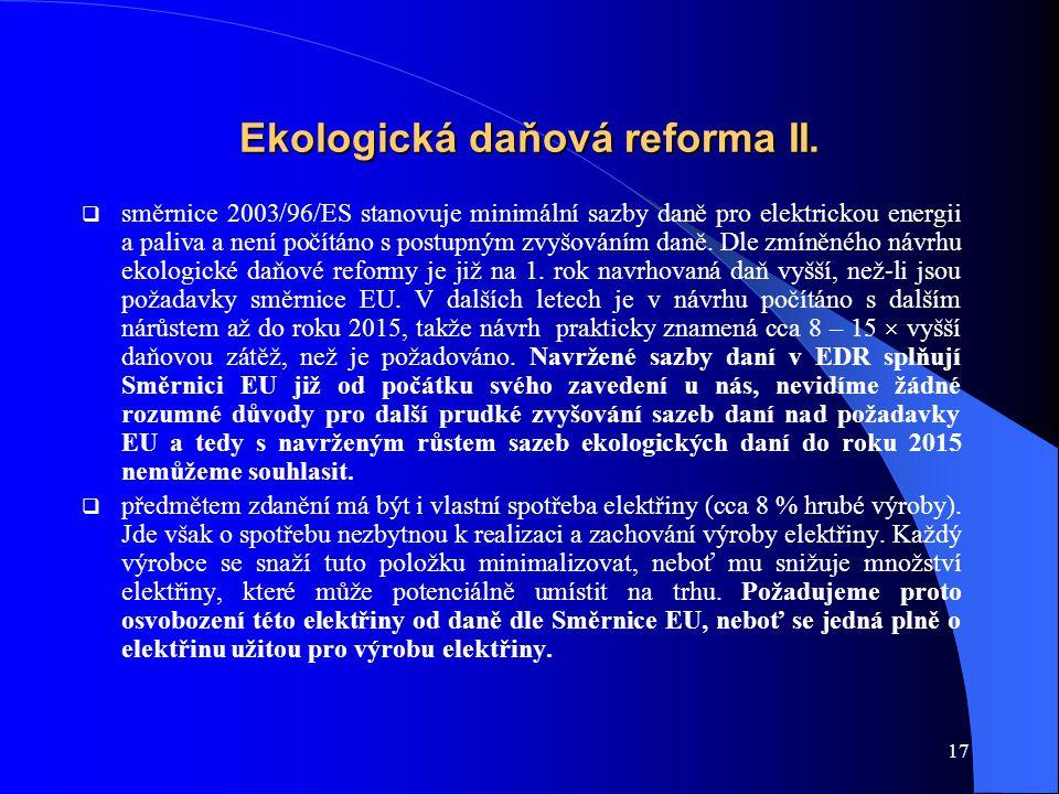 17 Ekologická daňová reforma II.