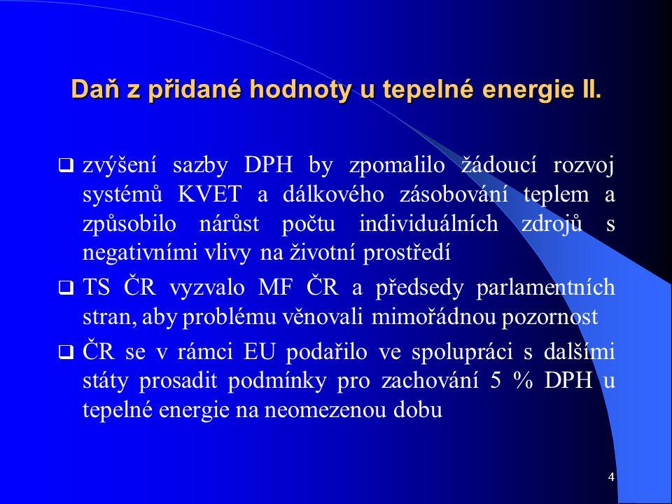4 Daň z přidané hodnoty u tepelné energie II.