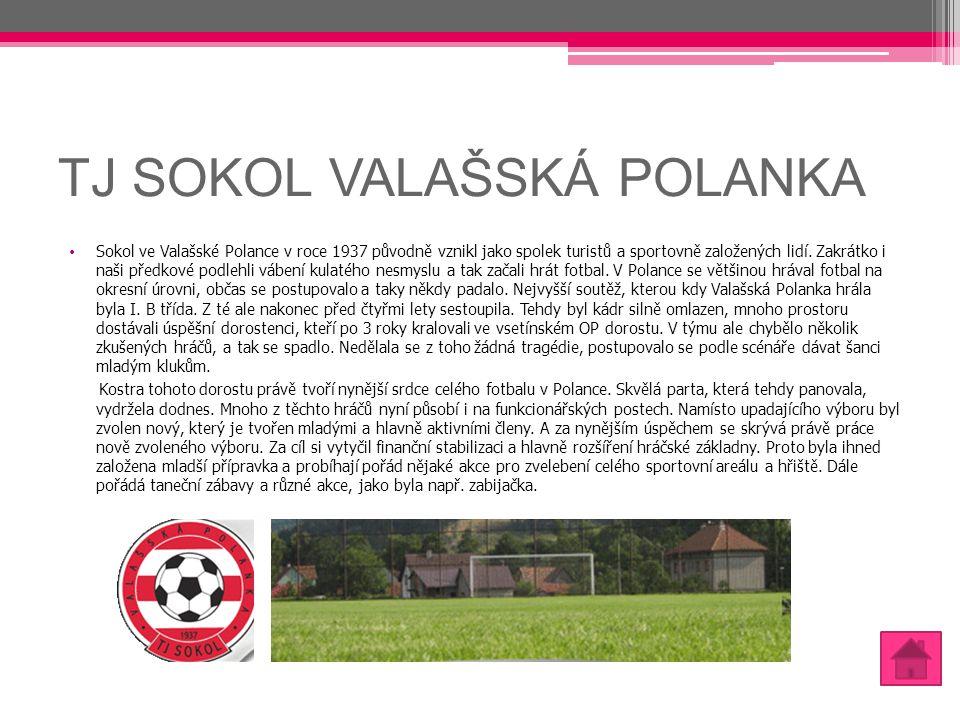 TJ SOKOL VALAŠSKÁ POLANKA Sokol ve Valašské Polance v roce 1937 původně vznikl jako spolek turistů a sportovně založených lidí. Zakrátko i naši předko
