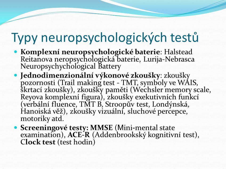Clock test rychlý screening obecné kognitivní úrovně