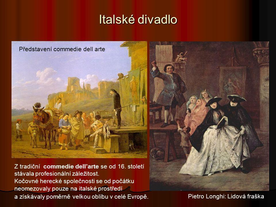Italské divadlo Z tradiční commedie dell'arte se od 16.