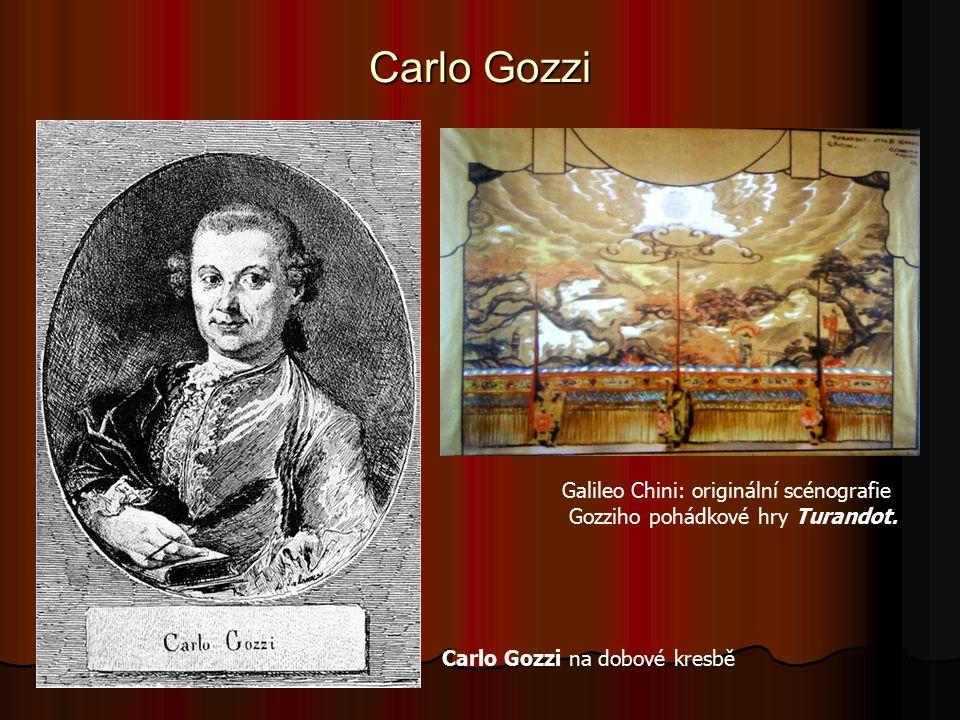 Carlo Gozzi Galileo Chini: originální scénografie Gozziho pohádkové hry Turandot.