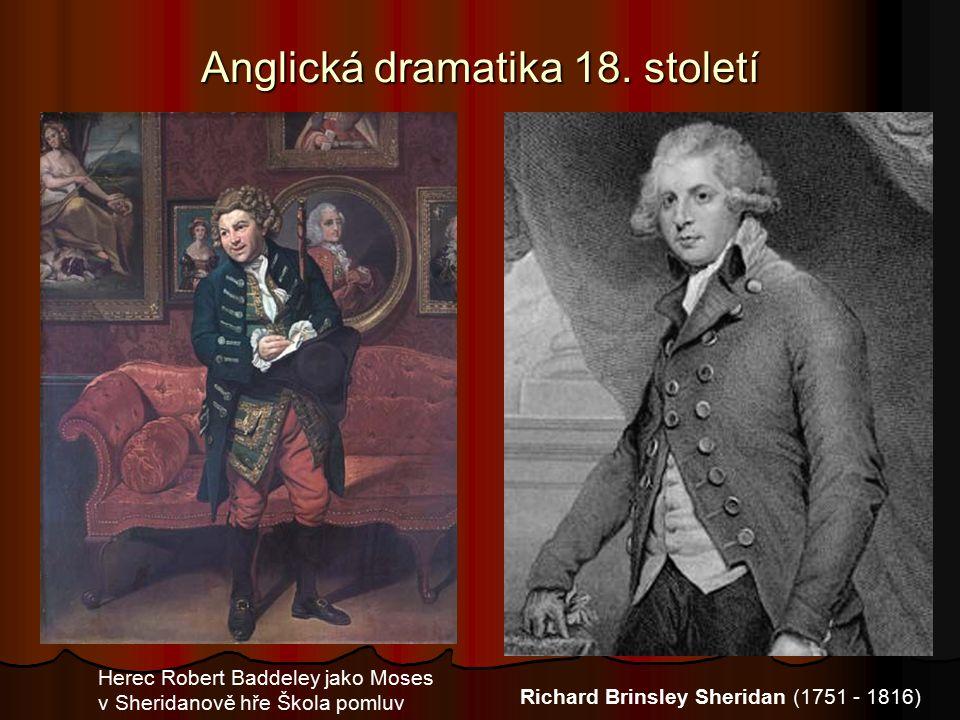 Anglická dramatika 18.