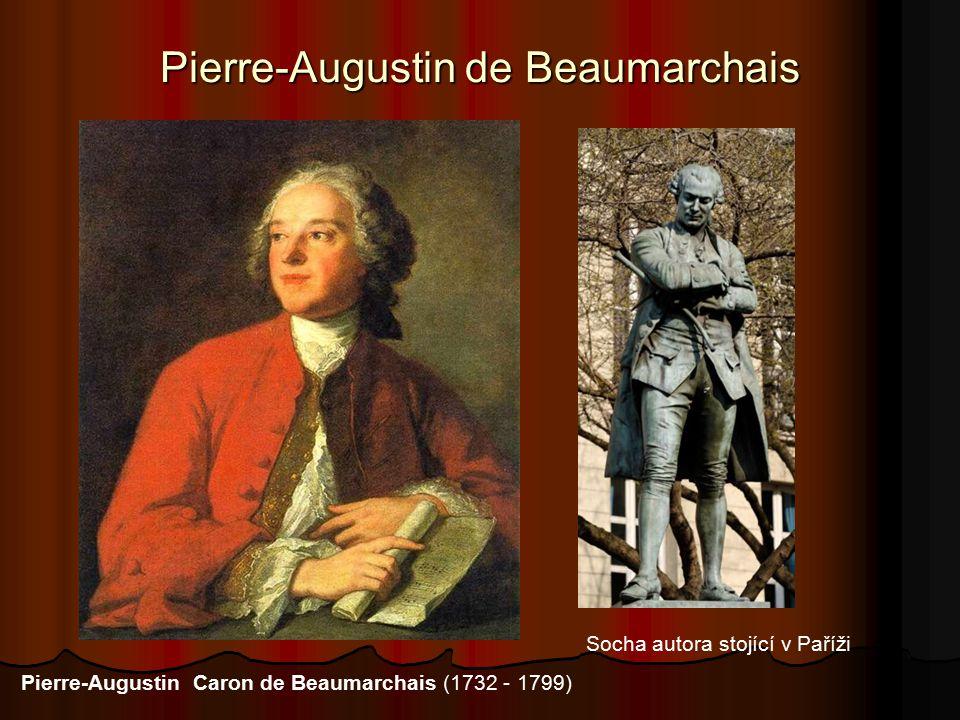 Pierre-Augustin de Beaumarchais Socha autora stojící v Paříži Pierre-Augustin Caron de Beaumarchais (1732 - 1799)