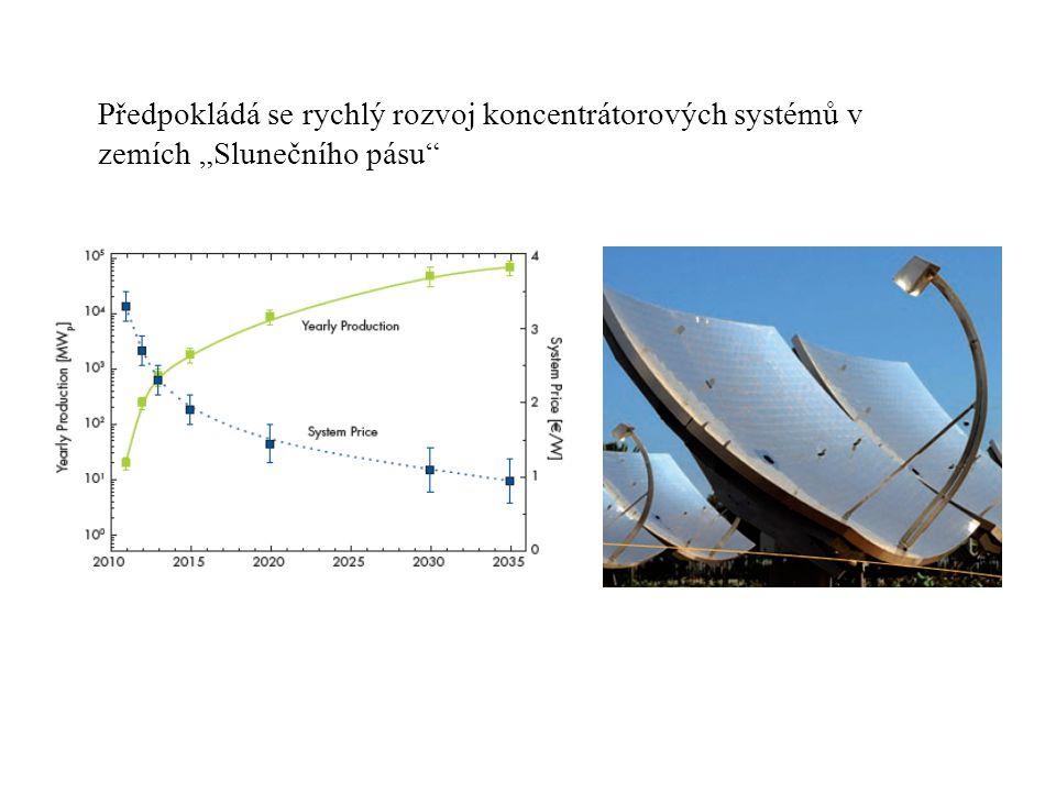 """Předpokládá se rychlý rozvoj koncentrátorových systémů v zemích """"Slunečního pásu"""""""