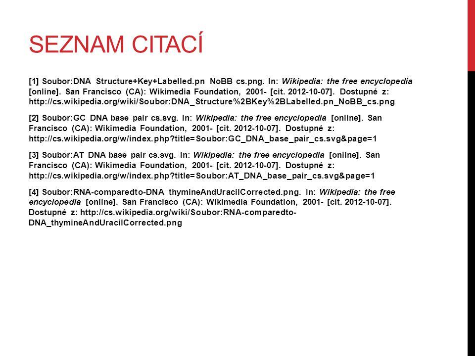 SEZNAM CITACÍ [1] Soubor:DNA Structure+Key+Labelled.pn NoBB cs.png.