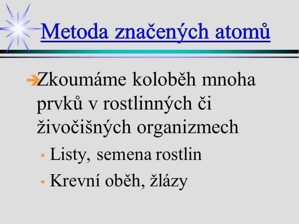 Příklady Šíření radioaktivního izotopu v mozku