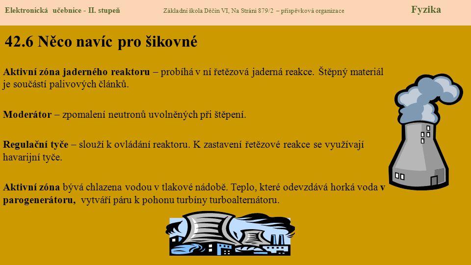 42.6 Něco navíc pro šikovné Elektronická učebnice - II. stupeň Základní škola Děčín VI, Na Stráni 879/2 – příspěvková organizace Fyzika Aktivní zóna j