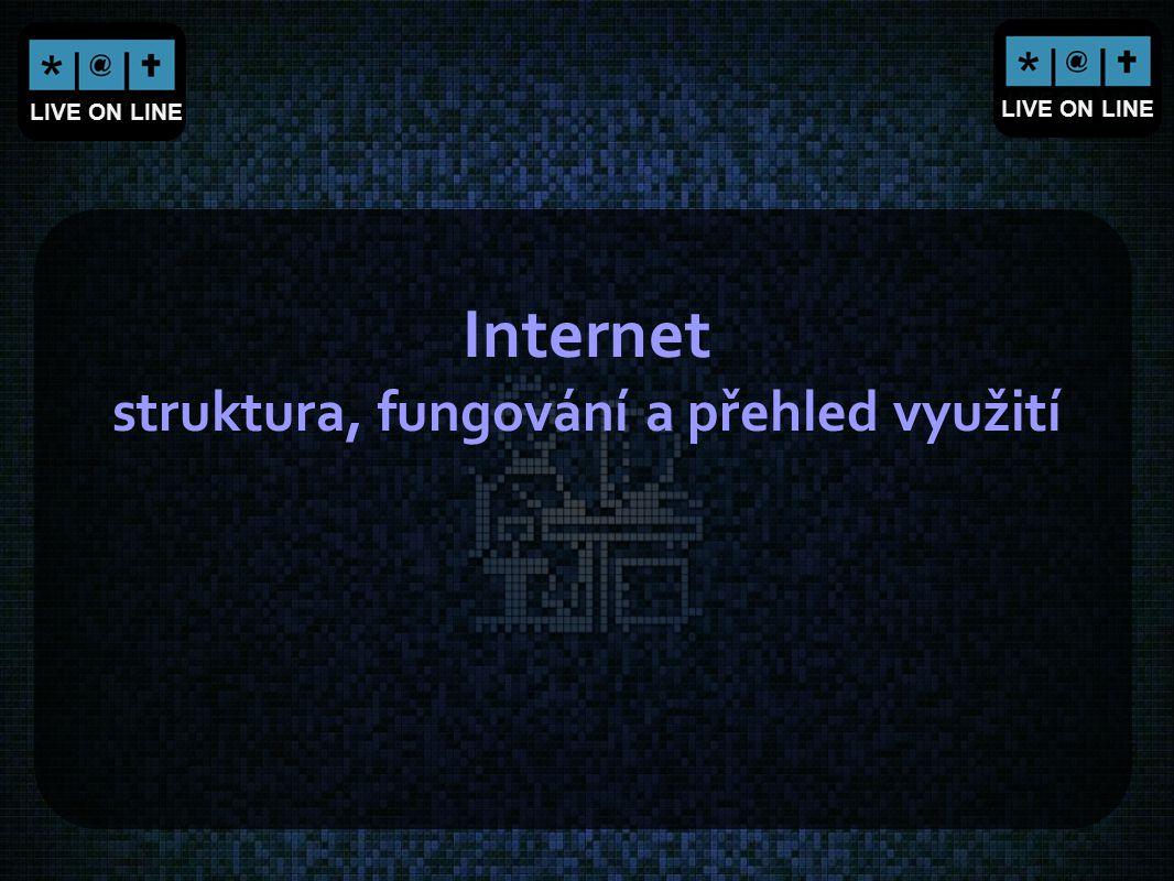 LIVE ON LINE Internet struktura, fungování a přehled využití