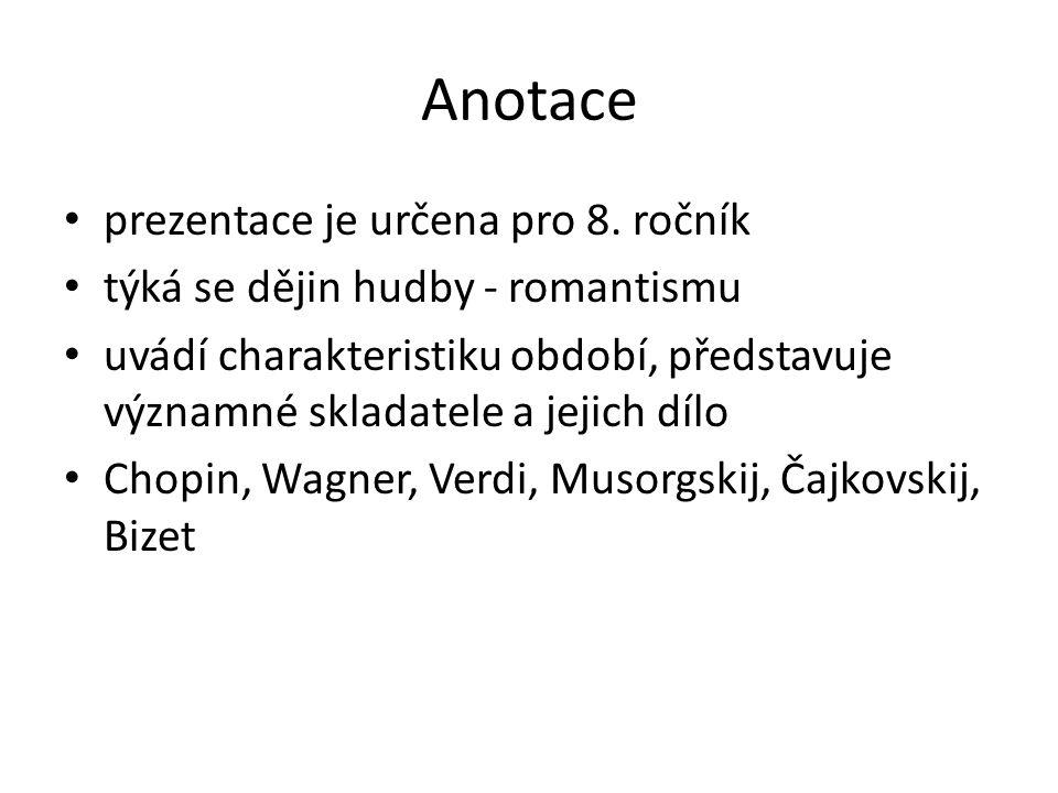 charakteristika období hudební skladatelé a jejich dílo