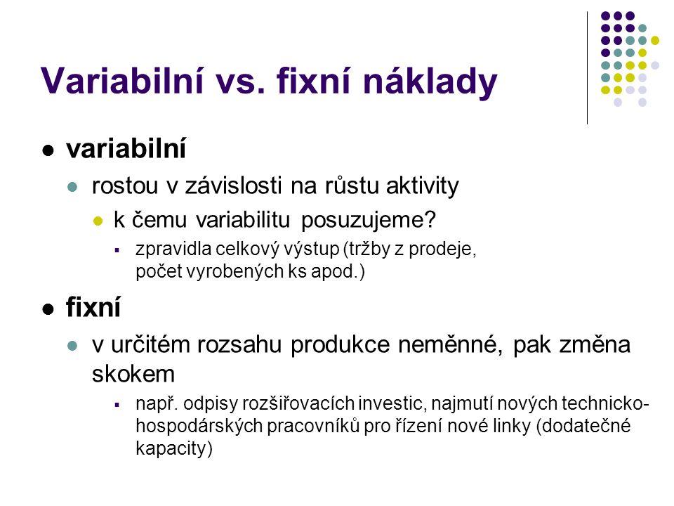 Variabilní vs.