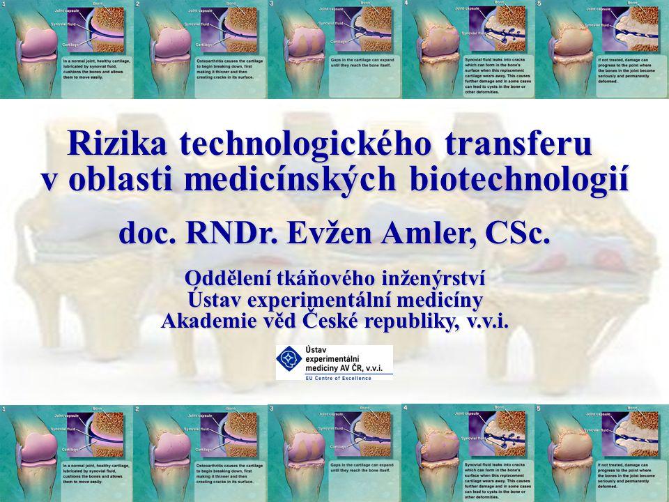 Rizika technologického transferu v oblasti medicínských biotechnologií doc.