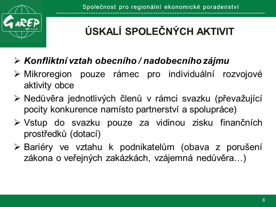 Společnost pro regionální ekonomické poradenství ZAKOTVENÍ ROZVOJOVÝCH PŘEDSTAV (MYŠLENEK) V KONCEPČNÍCH DOKUMENTECH.