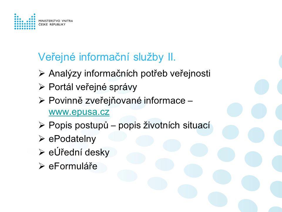 Veřejné informační služby II.