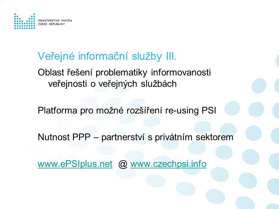 Veřejné informační služby III.