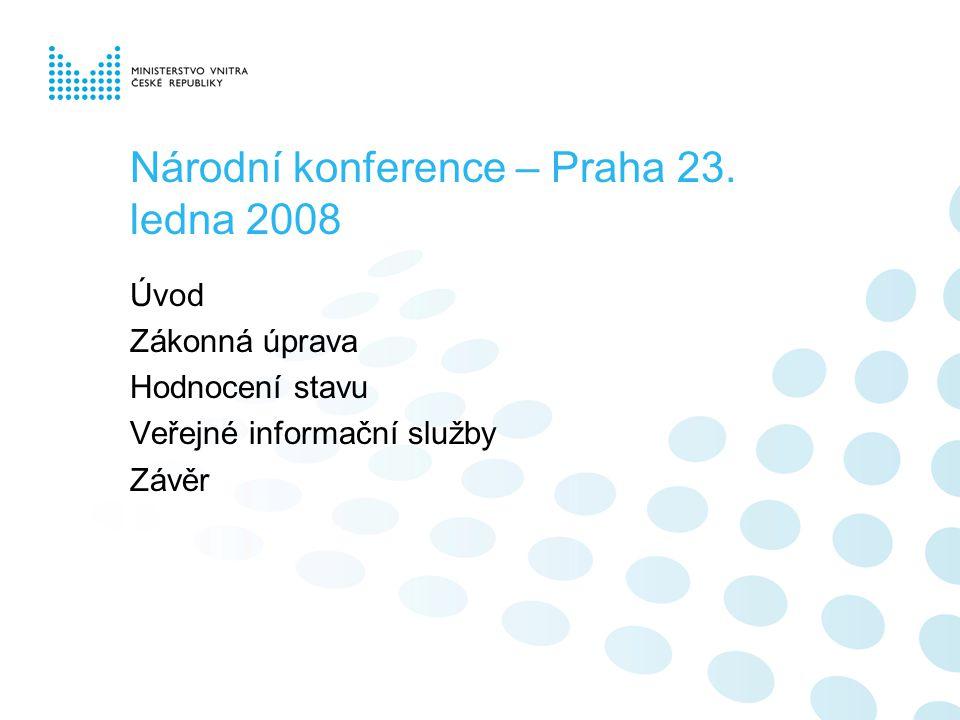 Národní konference – Praha 23.