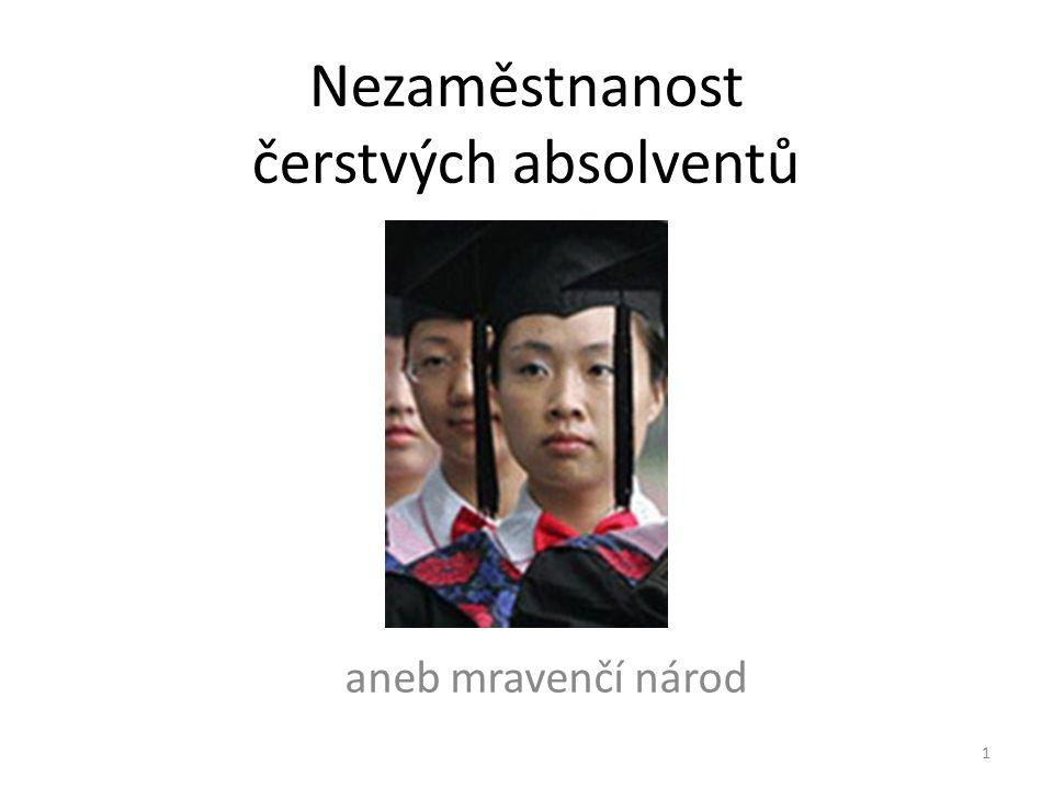 Nezaměstnanost čerstvých absolventů aneb mravenčí národ 1