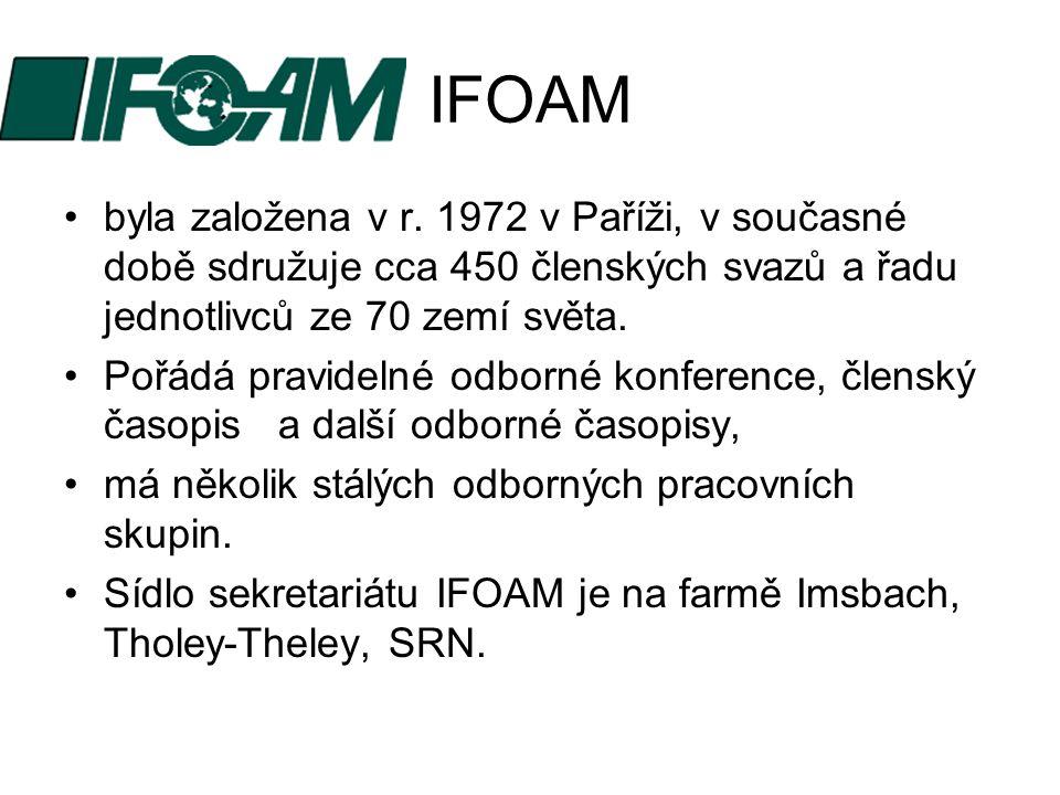 IFOAM byla založena v r. 1972 v Paříži, v současné době sdružuje cca 450 členských svazů a řadu jednotlivců ze 70 zemí světa. Pořádá pravidelné odborn