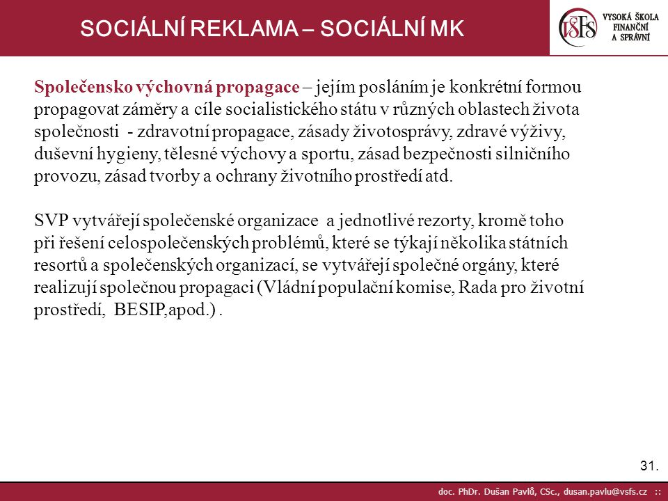 31.doc. PhDr.