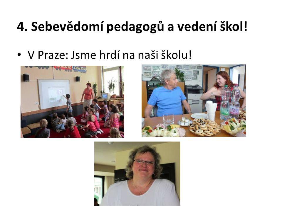 4. Sebevědomí pedagogů a vedení škol! V Praze: Jsme hrdí na naši školu!