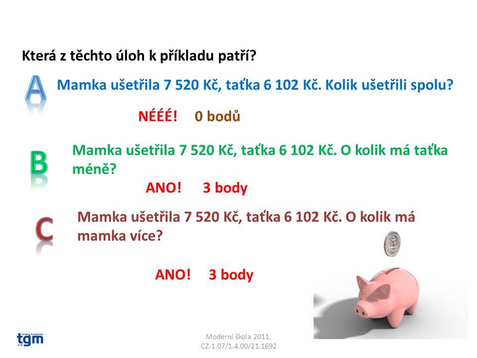 Moderní škola 2011, CZ.1.07/1.4.00/21.1692 Máš tyto číslice: 5, 3, 0, 1 Každou smíš použít nejvýše dvakrát.