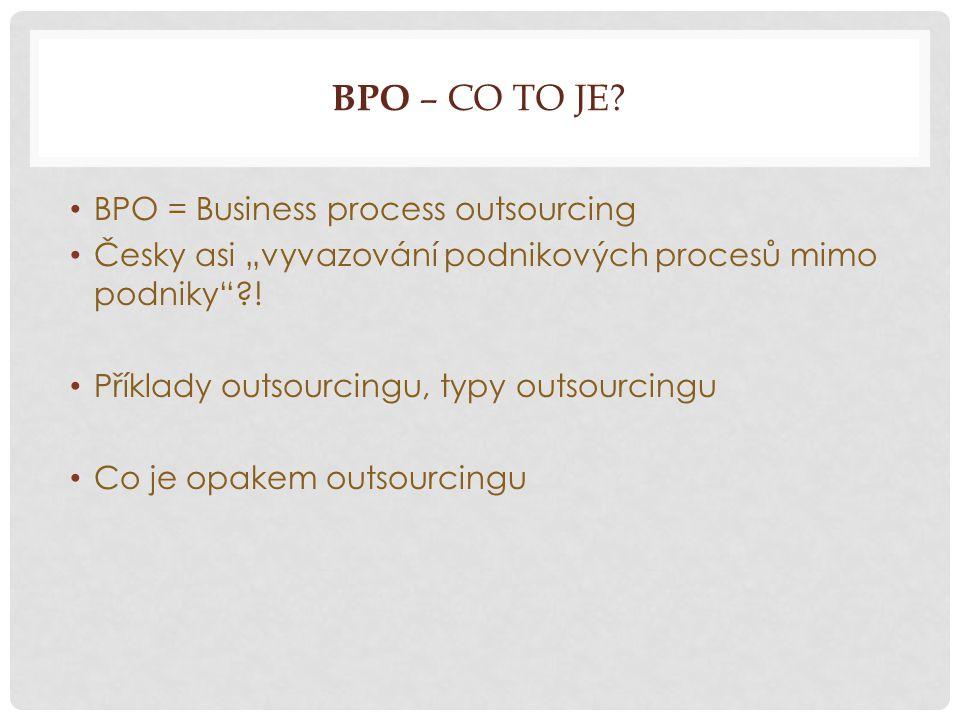 BPO – CO TO JE.