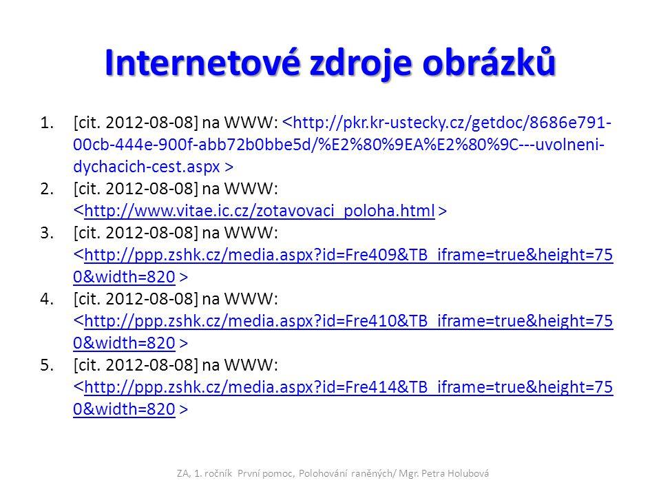 Internetové zdroje obrázků 1.[cit. 2012-08-08] na WWW: 2.[cit. 2012-08-08] na WWW: http://www.vitae.ic.cz/zotavovaci_poloha.html 3.[cit. 2012-08-08] n