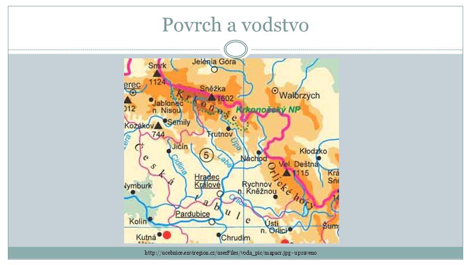 Povrch velice pestrý nejvyšší části Krkonoš (Lysá hora) podobnou stavbu jako Krkonoše mají Orlické hory sklaní města, Adršpašské a Teplické skály, Broumovské stěny jihozápadní polovinu kraje zaujímají pahorkatiny a roviny České tabule