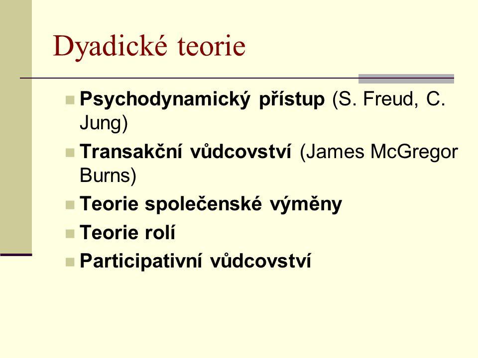 Dyadické teorie Psychodynamický přístup (S. Freud, C.