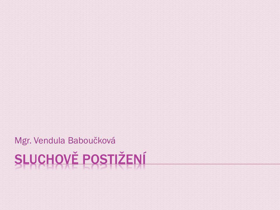 Mgr. Vendula Baboučková