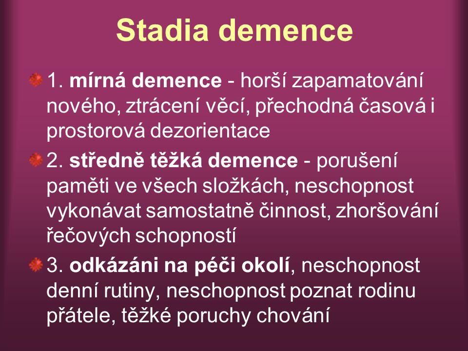 Stadia demence 1.