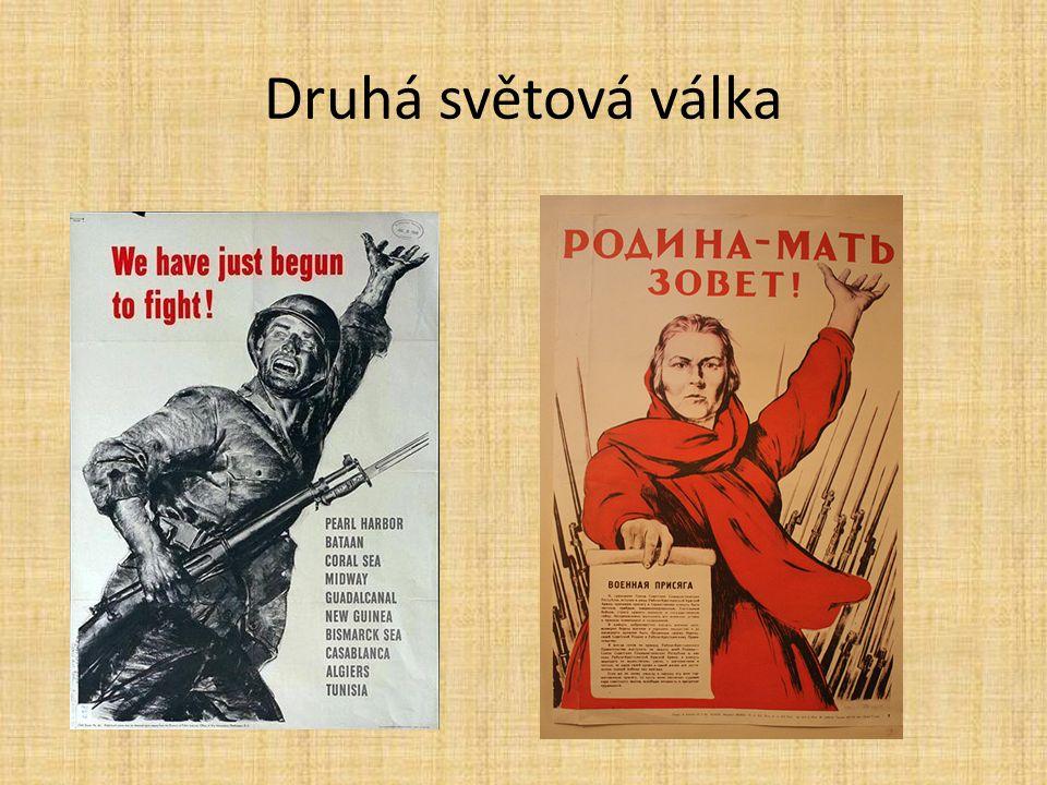 Varšavské povstání 1.7.- 3.10.1944 snaha osvobodit město před příchodem Rudé armády nedostatečná výzbroj, žádný výcvik X obrovská motivace k boji brutálně potlačeno – masakry civilistů – ženy, děti hrdinný boj – polští skauti – harceři decimace polské inteligence až 200 000 obětí (převážně civilistů) 85 % města zničeno sovětská armáda nepomohla http://cs.wikipedia.org/wiki/Var%C5%A1avsk%C3%A9_povst%C3 %A1n%C3%AD