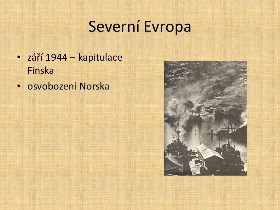 Severní Evropa září 1944 – kapitulace Finska osvobození Norska