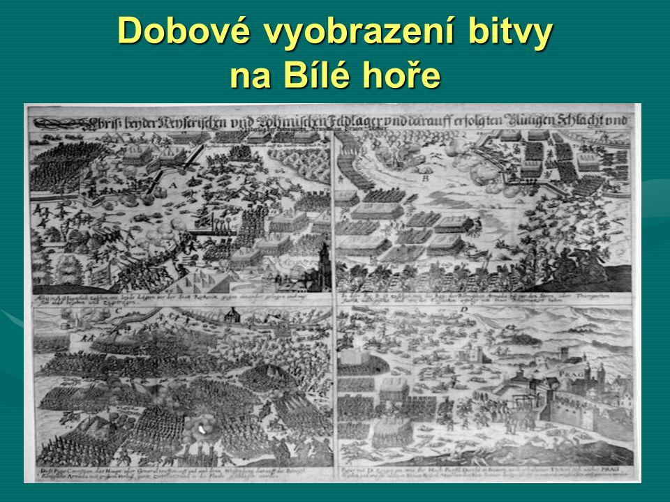 Dobové vyobrazení bitvy na Bílé hoře