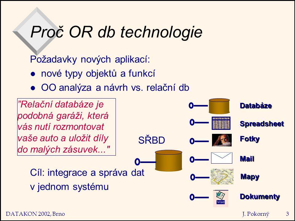 DATAKON 2002, Brno J. Pokorný44 OO  OR Řešení podle SQL:1999
