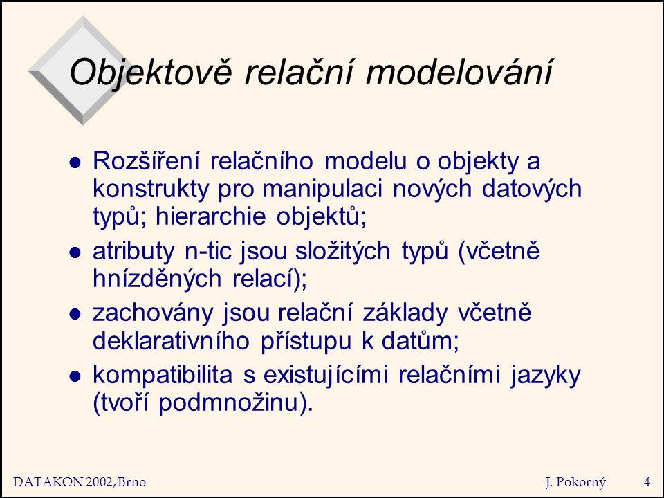 DATAKON 2002, Brno J.Pokorný5 Hnízděná vs.
