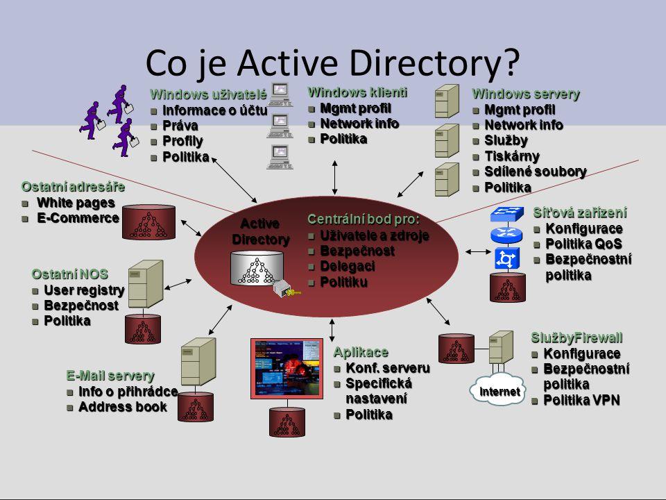 Základní prvky AD - objekt Základním prvkem Active Directory je objekt.