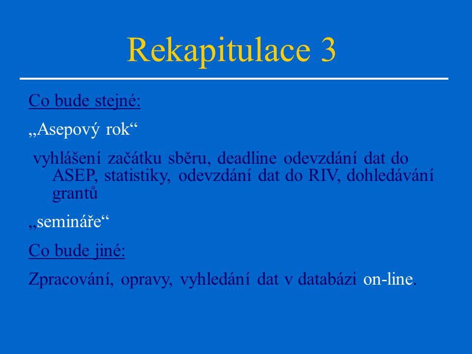 Pojmy, které musí znát zpracovatel ASEP RIV, CEZ, CEP Web of Knowledge JCR, impaktní bod Databáze ISSN v STK Databáze časopisů v NKP EXCALIBUR-CONVERA http://www.iach.cz/knav/asep.htm Ullrich's web nové ARL nové