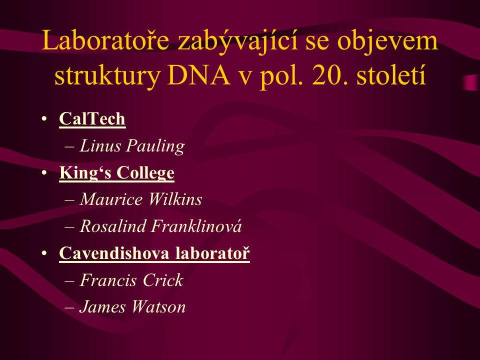 Laboratoře zabývající se objevem struktury DNA v pol.