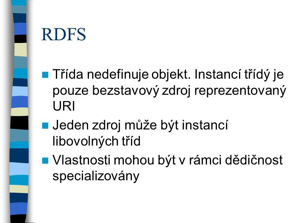 RDFS Třída nedefinuje objekt.