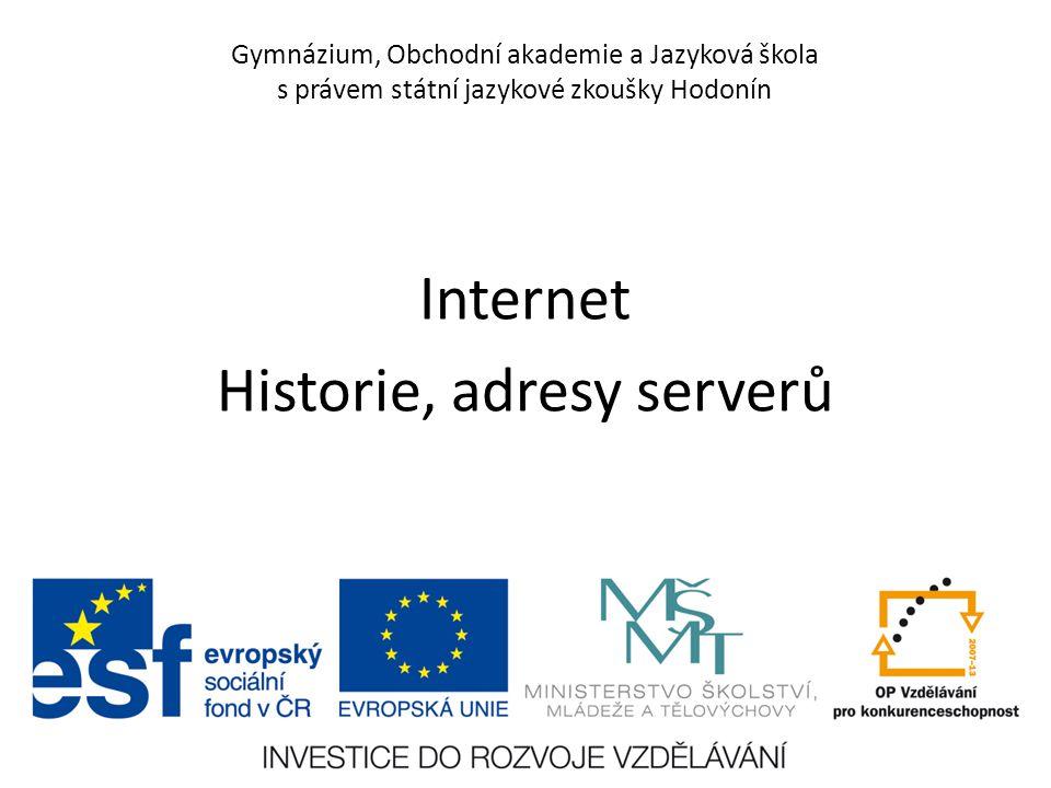 Číslo projektu CZ.1.07/1.5.00/34.0266 Číslo materiálu VY_12_INOVACE_PoP_IN_3E_13 Autor Petr Polách Tematický celek Informační gramotnost Ročník 3.