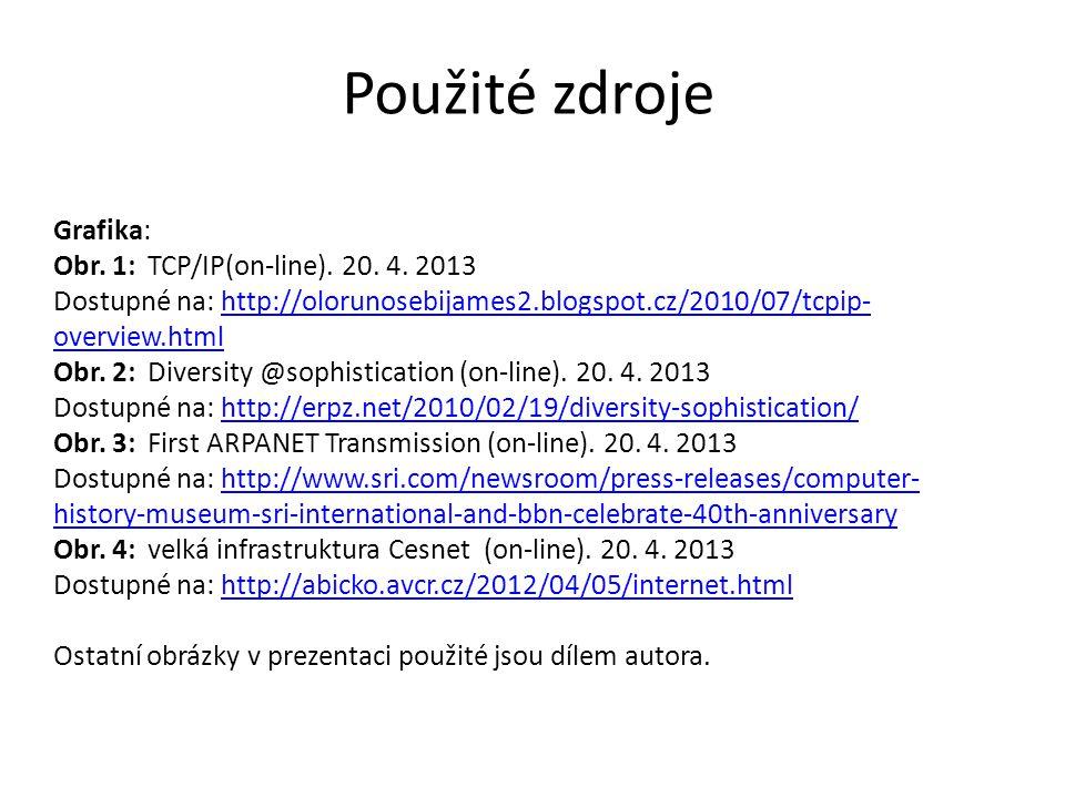 Grafika: Obr. 1: TCP/IP(on-line). 20. 4. 2013 Dostupné na: http://olorunosebijames2.blogspot.cz/2010/07/tcpip- overview.htmlhttp://olorunosebijames2.b