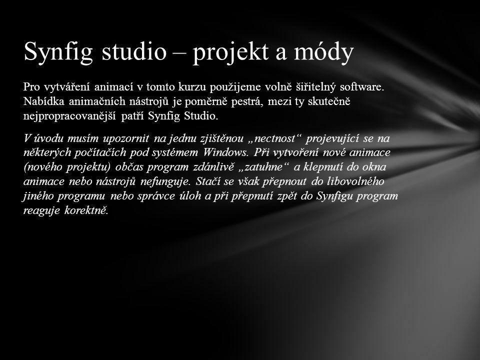 Pro vytváření animací v tomto kurzu použijeme volně šiřitelný software.