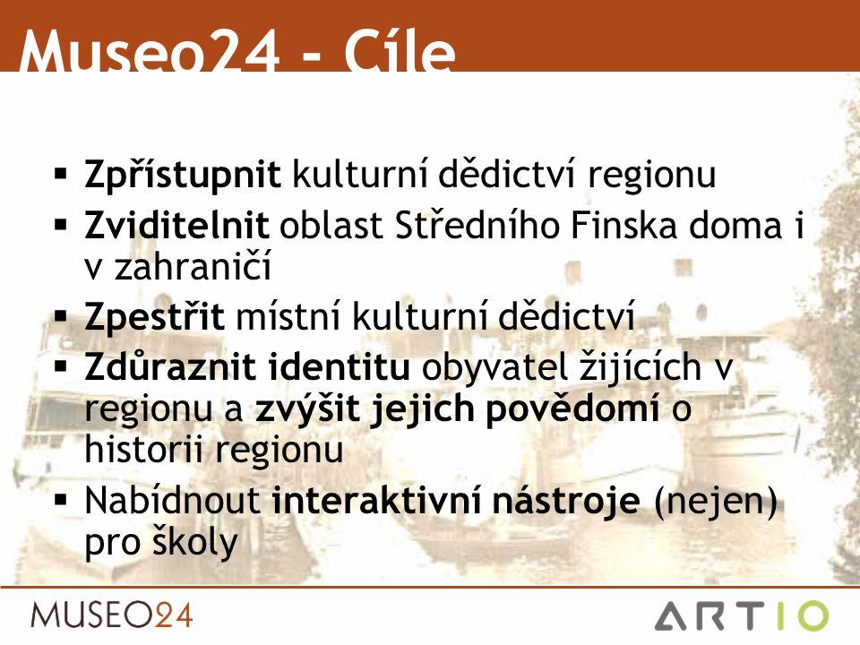  Zpřístupnit kulturní dědictví regionu  Zviditelnit oblast Středního Finska doma i v zahraničí  Zpestřit místní kulturní dědictví  Zdůraznit ident