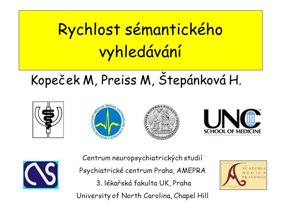 Rychlost sémantického vyhledávání Kopeček M, Preiss M, Štepánková H.