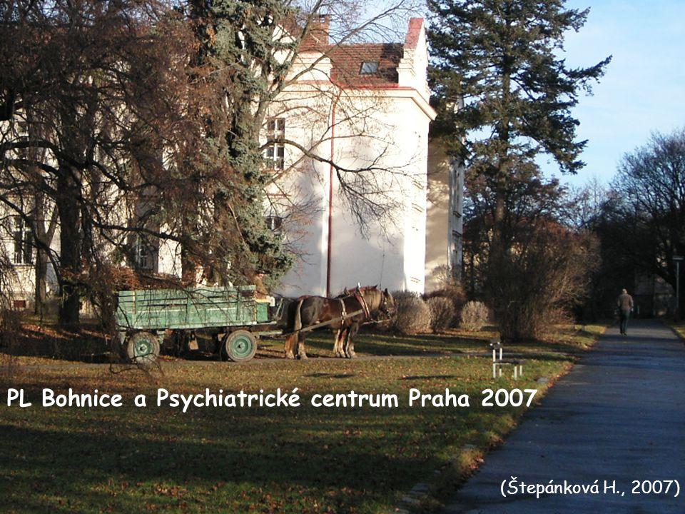 (Štepánková H., 2007) PL Bohnice a Psychiatrické centrum Praha 2007