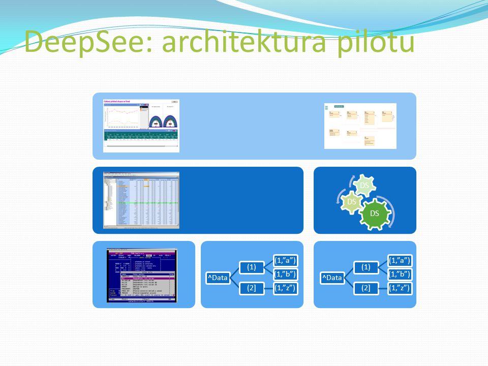 DeepSee: architektura pilotu ^Data(1)(1, a )(1, b )(2](1, z )^Data(1)(1, a )(1, b )(2](1, z ) DS