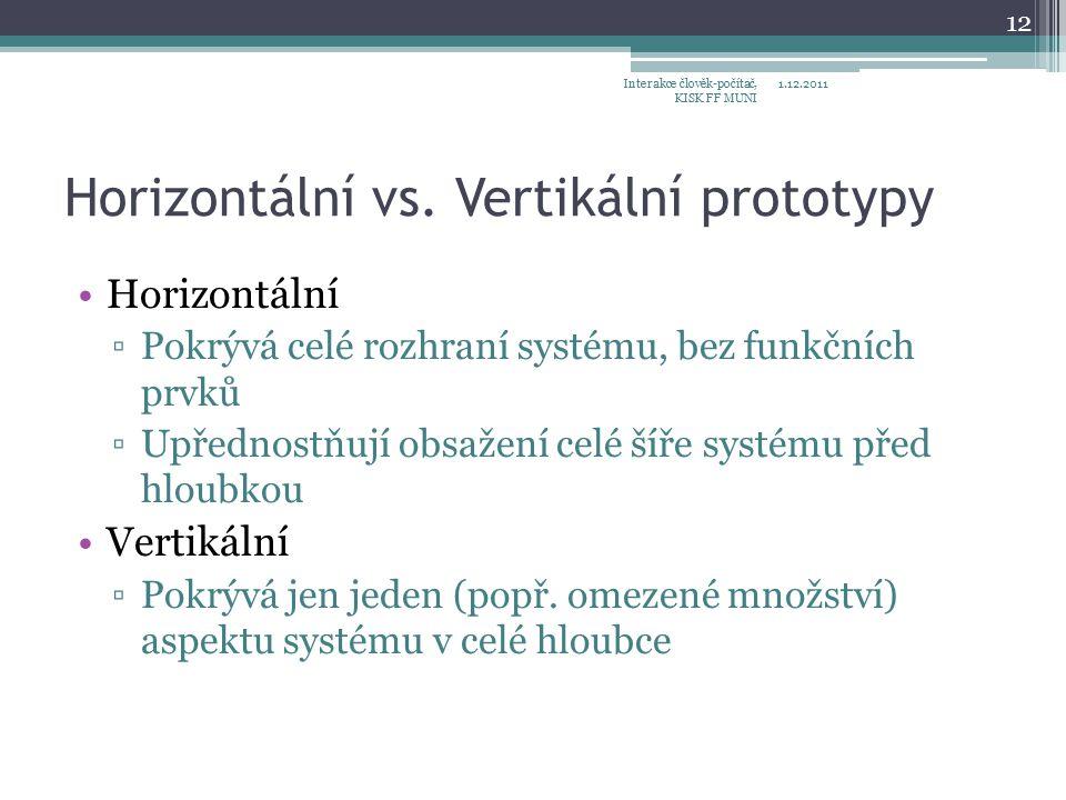 Horizontální vs.