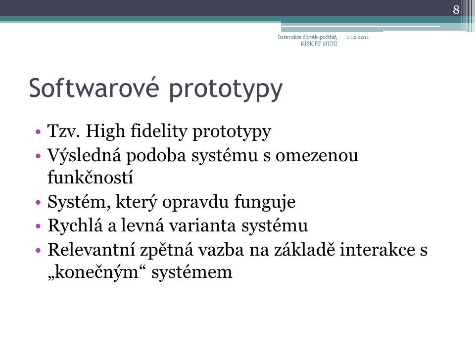 Softwarové prototypy Tzv.