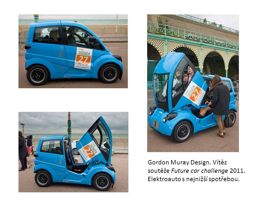 Gordon Muray Design. Vítěz soutěže Future car challenge 2011. Elektroauto s nejnižší spotřebou.